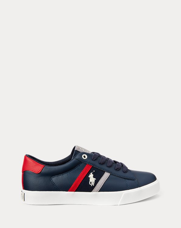 Geoff II Faux-Leather Trainers