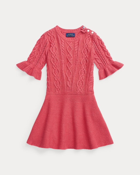 Aran-Knit Cotton Jumper Dress