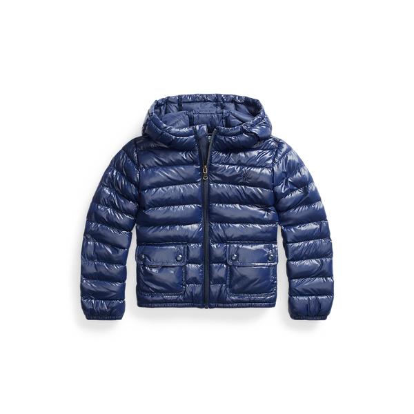 폴로 랄프로렌 여아용 패딩 Polo Ralph Lauren The Packable Hooded Jacket,French Navy