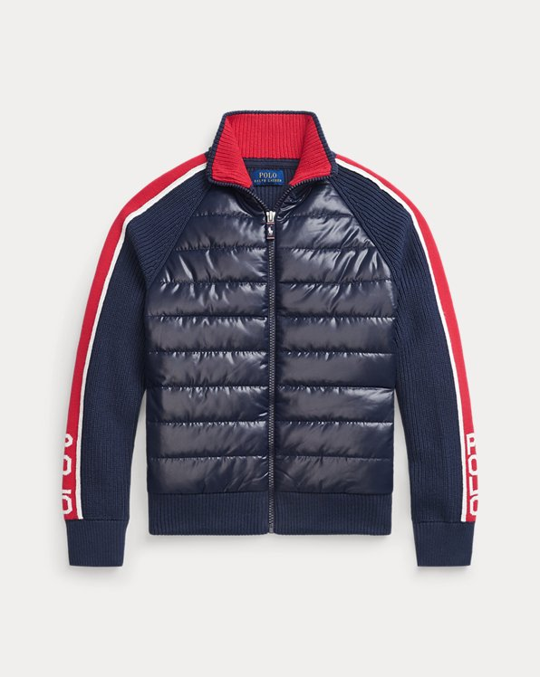 Cotton-Blend Hybrid Jacket