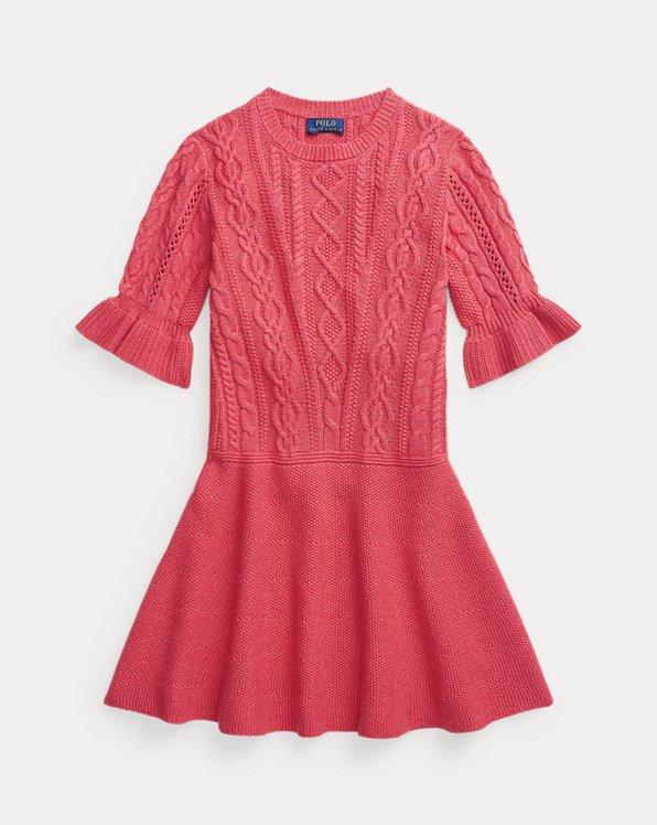 Robe-pull en tricot d'Aran de coton