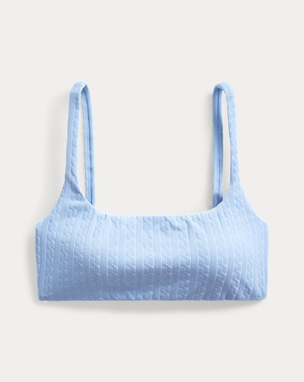 Polo Ralph Lauren Cable-Knit Bralette Bikini Top