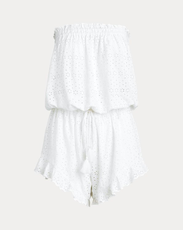 Eyelet Cover-Up Playsuit