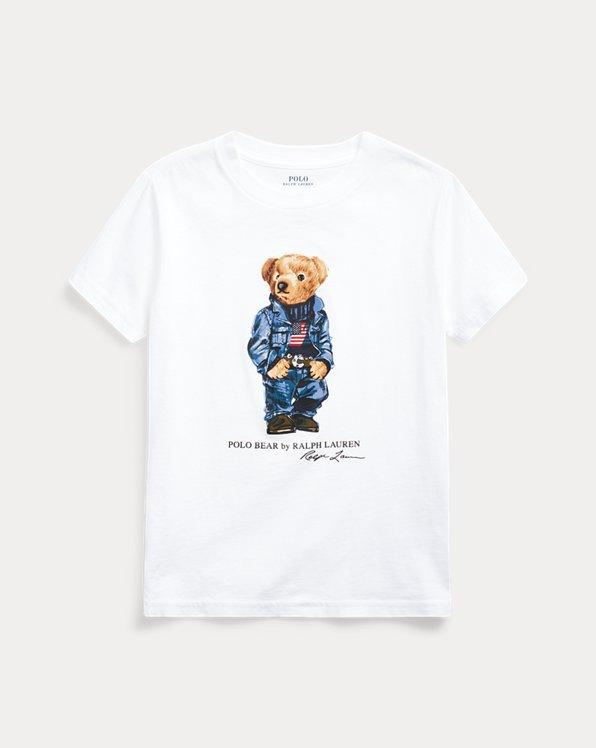 Camiseta de punto de algodóncon Polo Bear vaquero