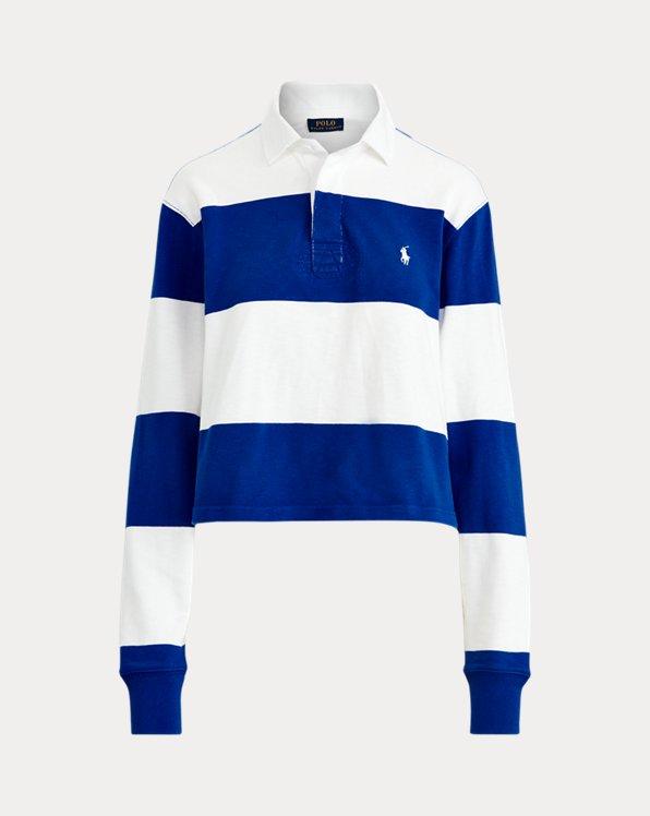 Camisa de rugby de algodón recortada