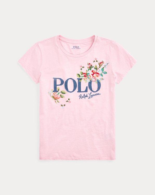 T-shirt col rond en jersey à logo