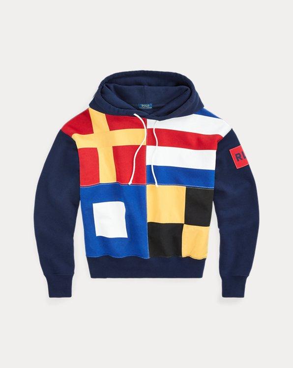Sudadera polar de capucha y bandera