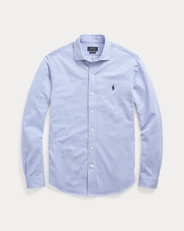 Slim Fit Knit Dress Shirt