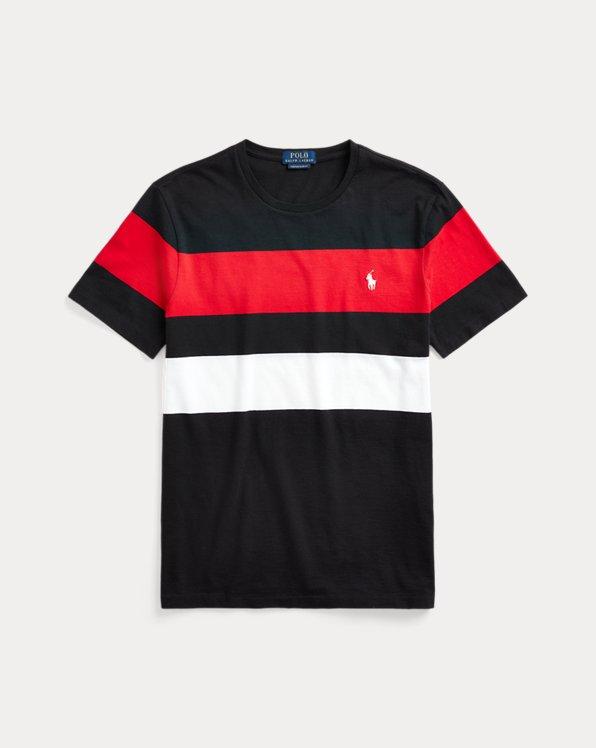 Maglietta a righe Custom Slim-Fit