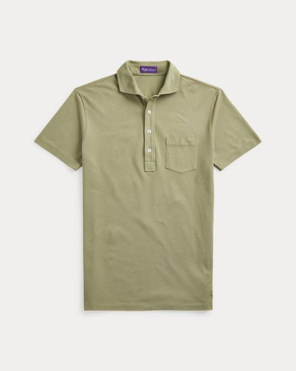 Custom Slim Fit Washed Piqué Polo Shirt