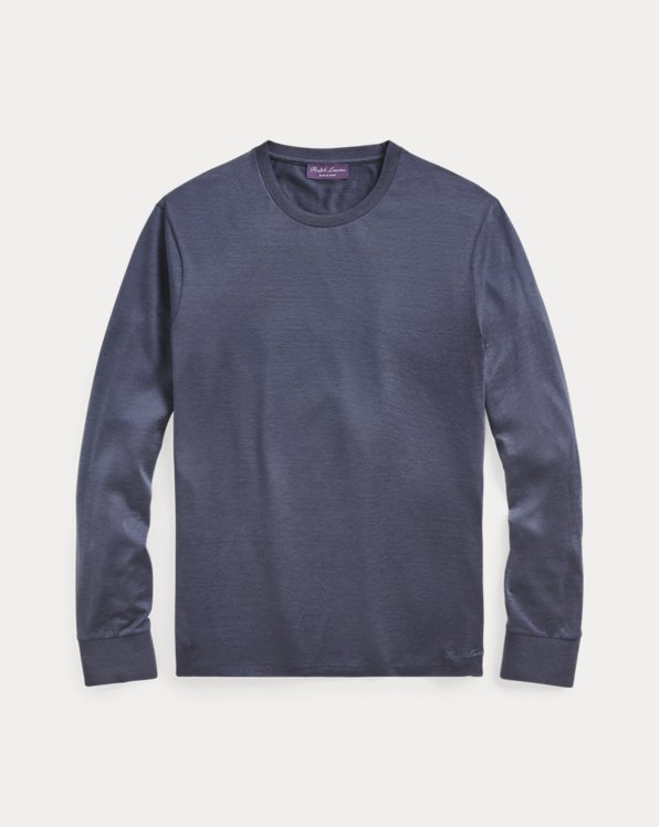 Silk-Blend Long-Sleeve T-Shirt