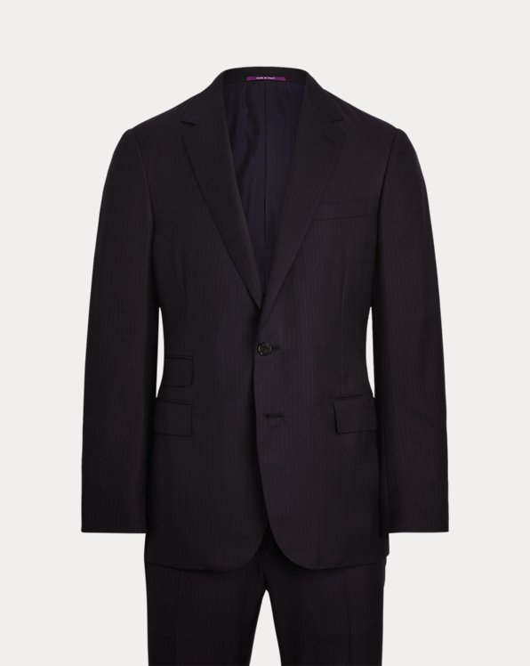 Gregory Pinstripe Wool Twill Suit