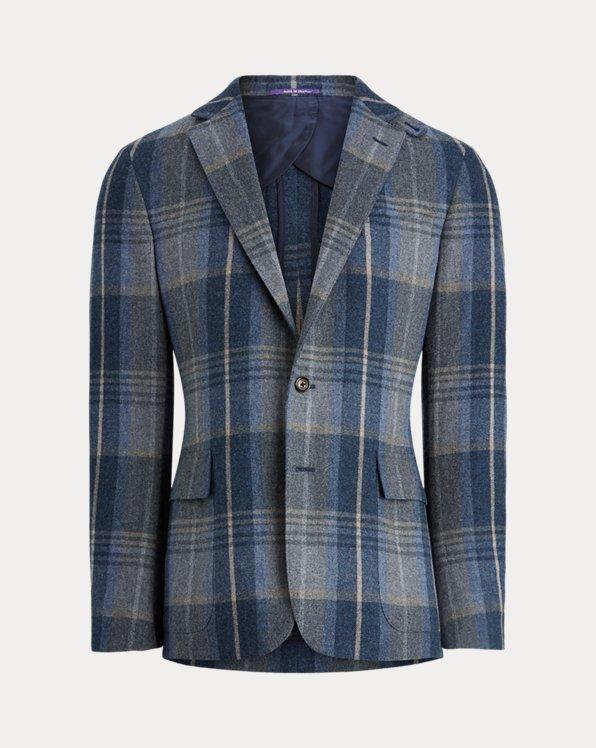 Hadley Plaid Wool-Cashmere Sport Coat