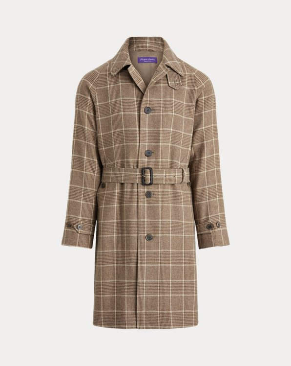 Glen Plaid Cashmere Topcoat