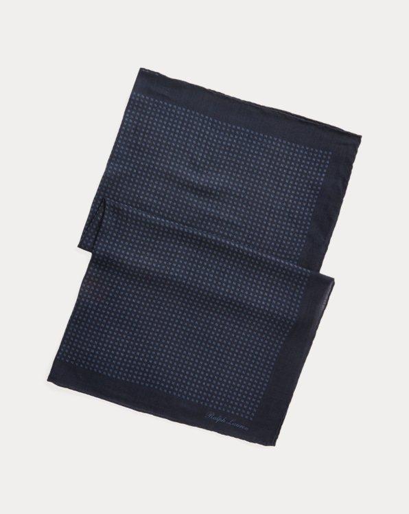 Diamond-Print Wool Scarf