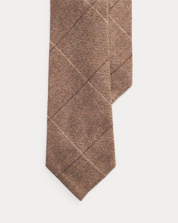 Windowpane-Krawatte mit Kaschmir