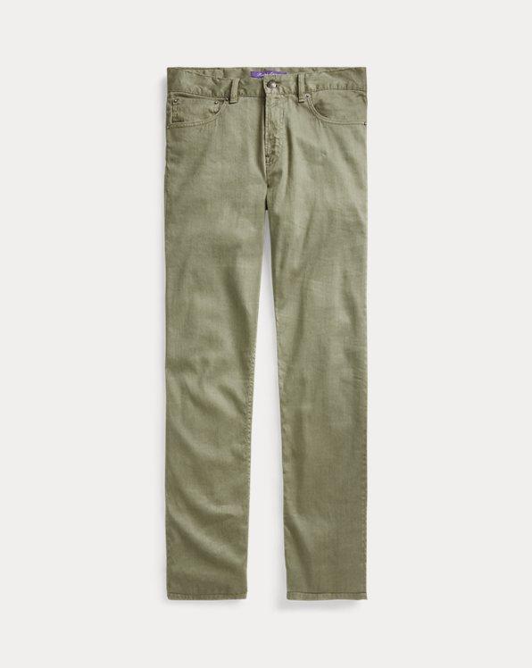 Jean slim stretch en lin et coton