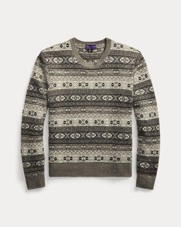 Fair Isle Cashmere Crewneck Sweater