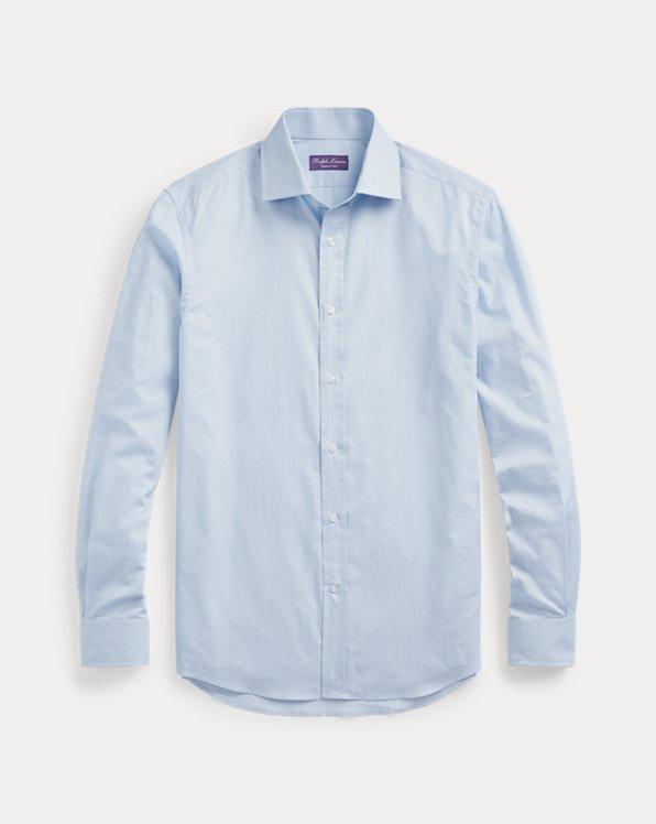 Fine-Stripe Dobby Shirt