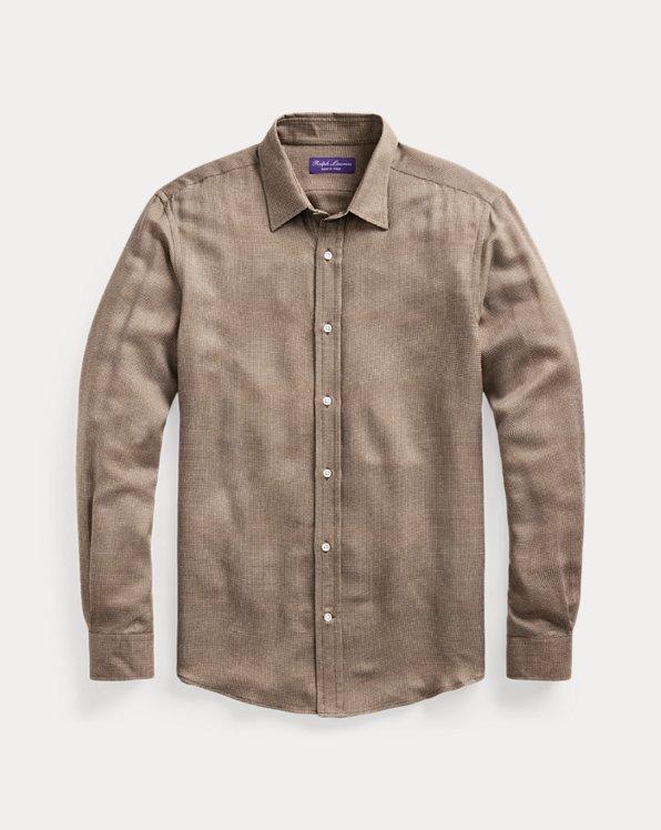 Houndstooth Gabardine Shirt
