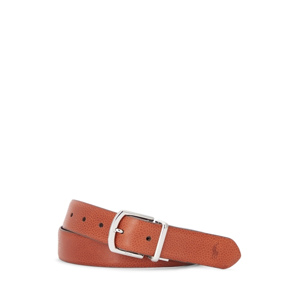 폴로 랄프로렌 Polo Ralph Lauren Reversible Pebble Leather Belt,Cognac/Burgundy