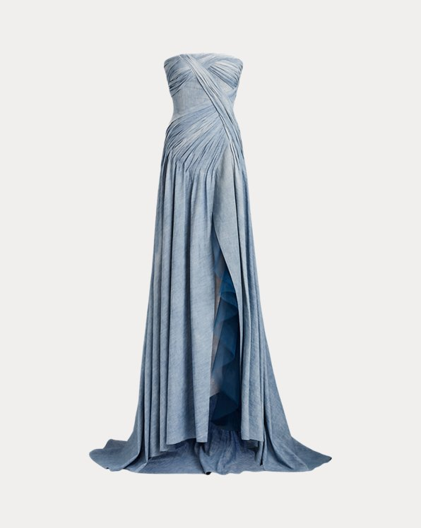 Andel Chambray Evening Dress