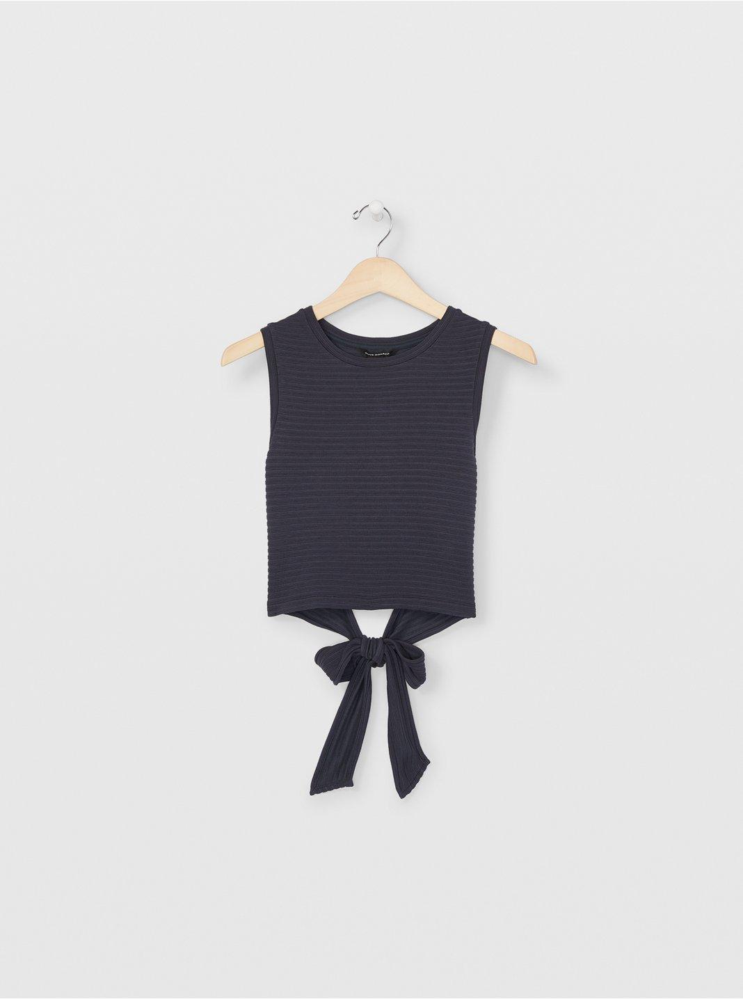 Sleeveless Tie Back Top