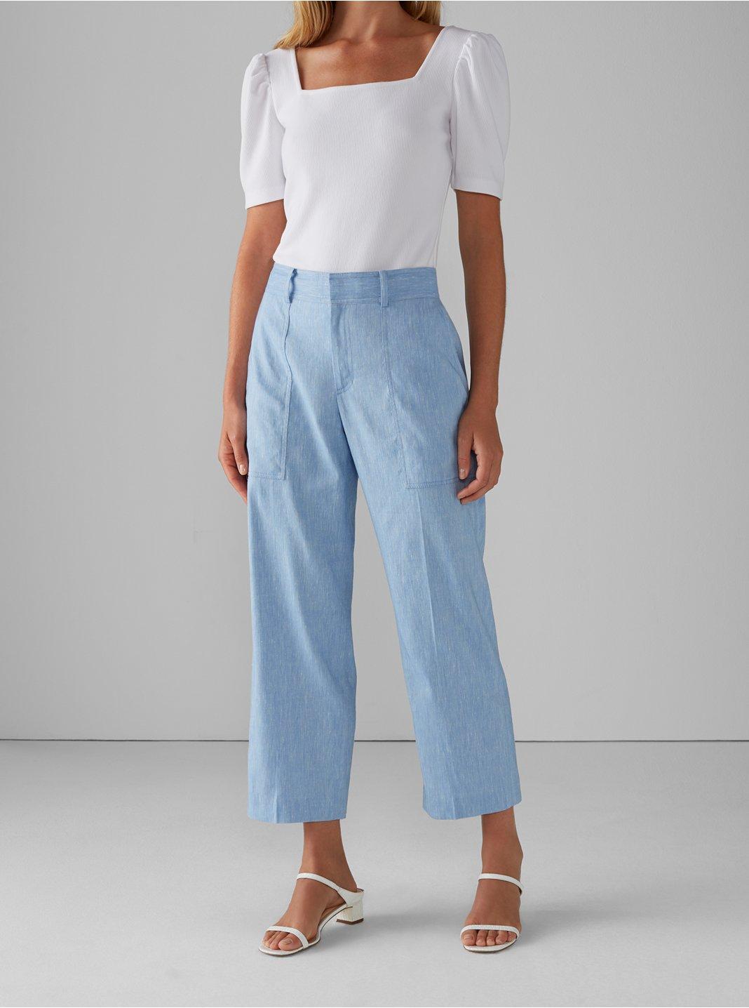 Pantalon en mélange de lin Hadarahh