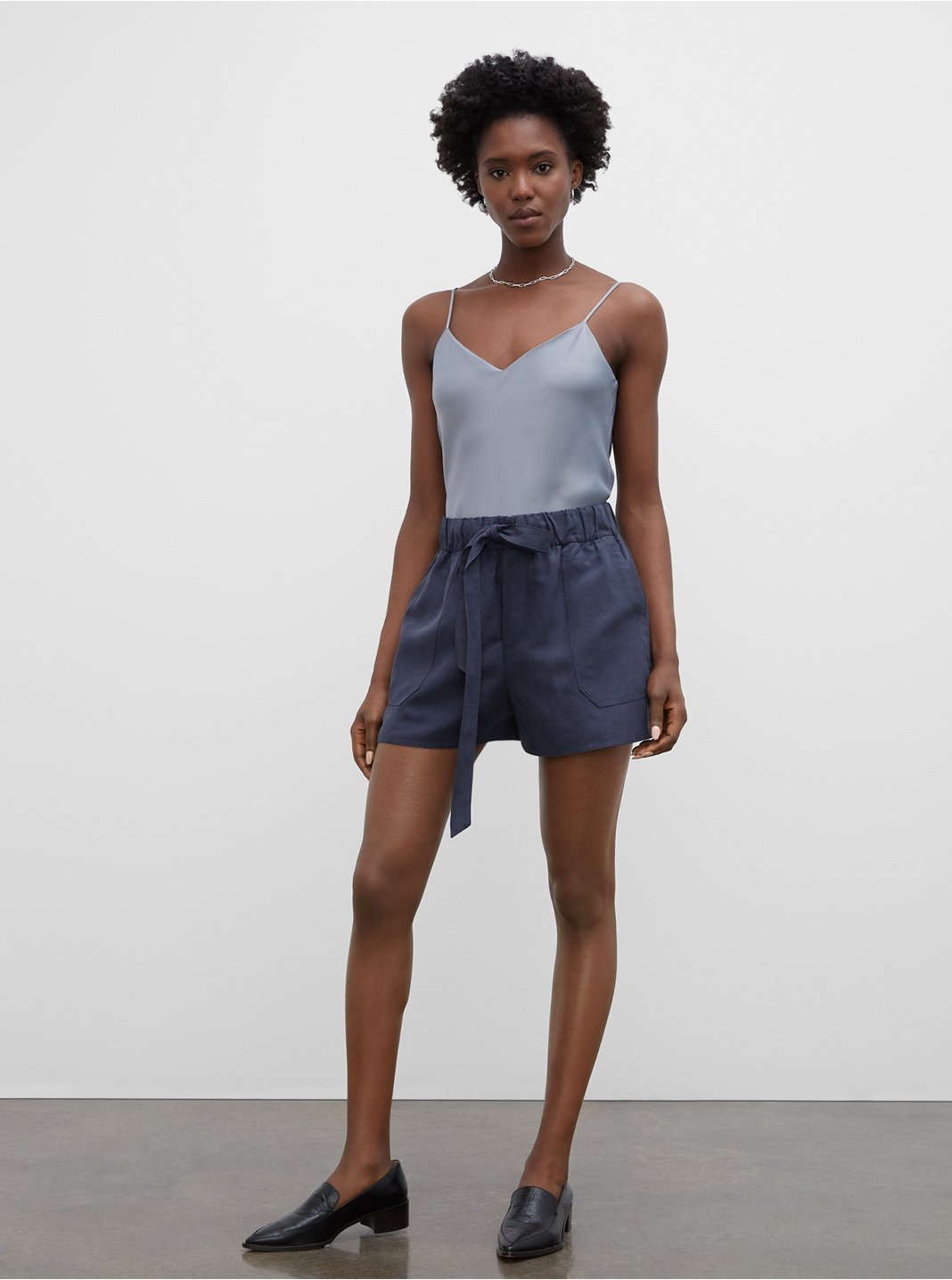 Belted Pull-On Shorts