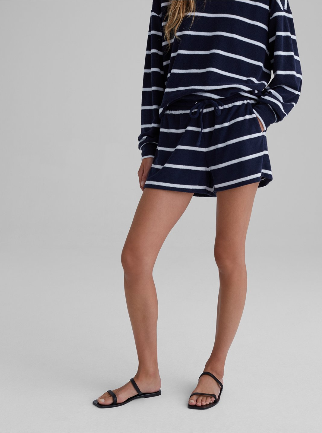 Striped Terry Toweling Shorts