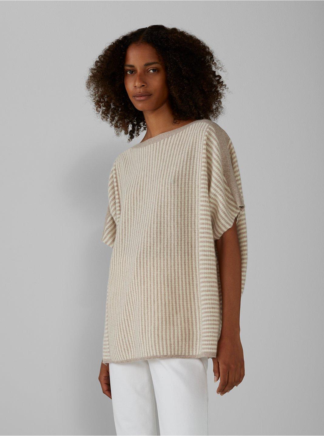 Multi-Stitch Cashmere Egg Sweater