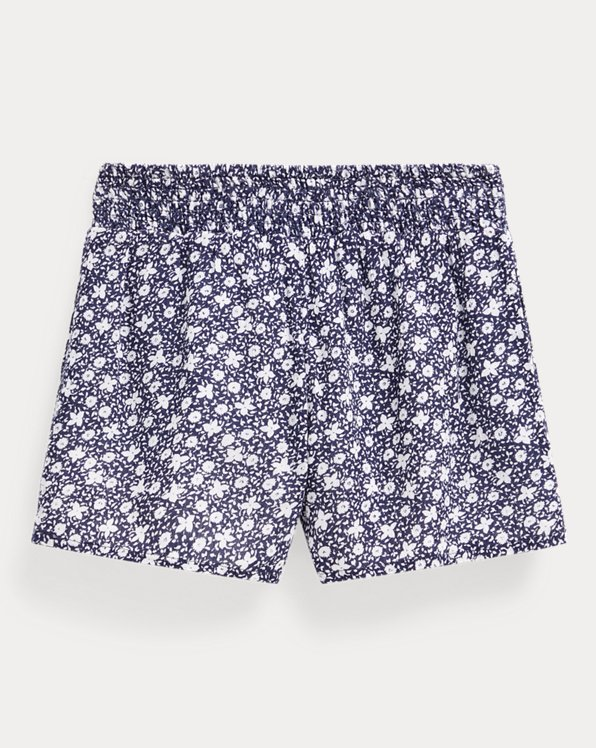 Floral Cotton-Blend Short