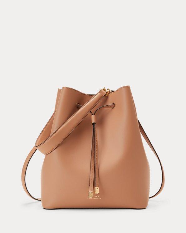 Polo Ralph Lauren Leather Debby Drawstring Bag