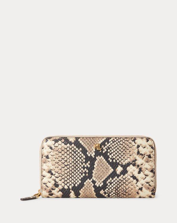 Python Continental Zip Wallet