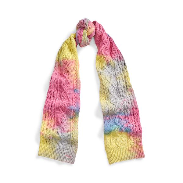 Polo Ralph Lauren Tie-Dye Aran-Knit Scarf