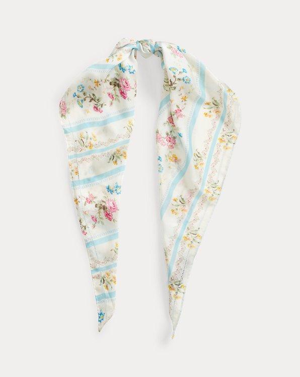 Floral Triangle Headscarf