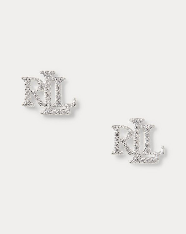 Sterling Silver Logo Earrings