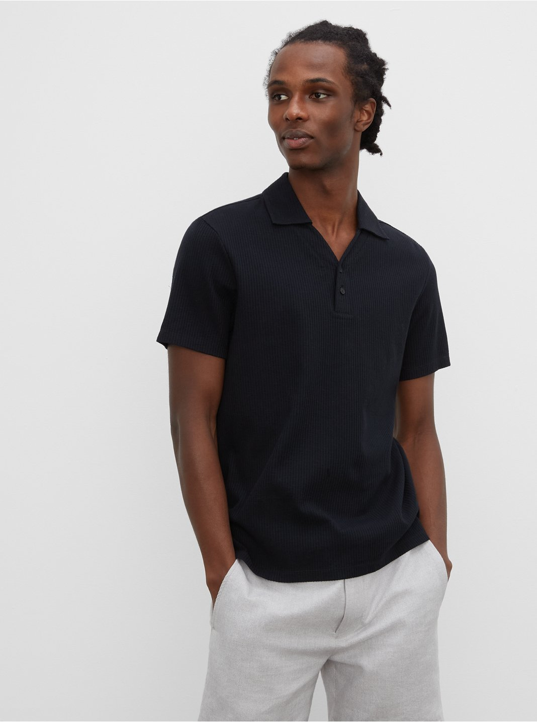 Split Neck Polo