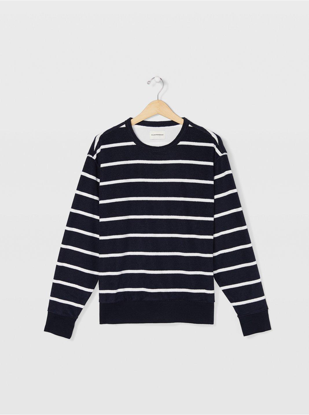 Striped Terry Sweatshirt