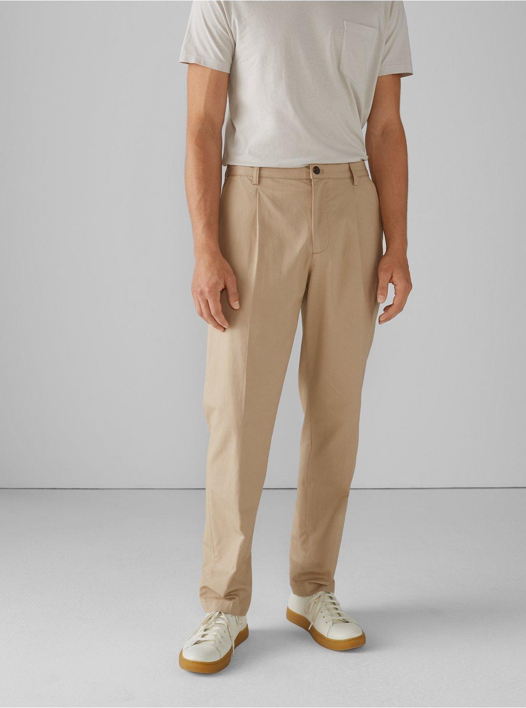 Pleated Tencel Cotton Pants