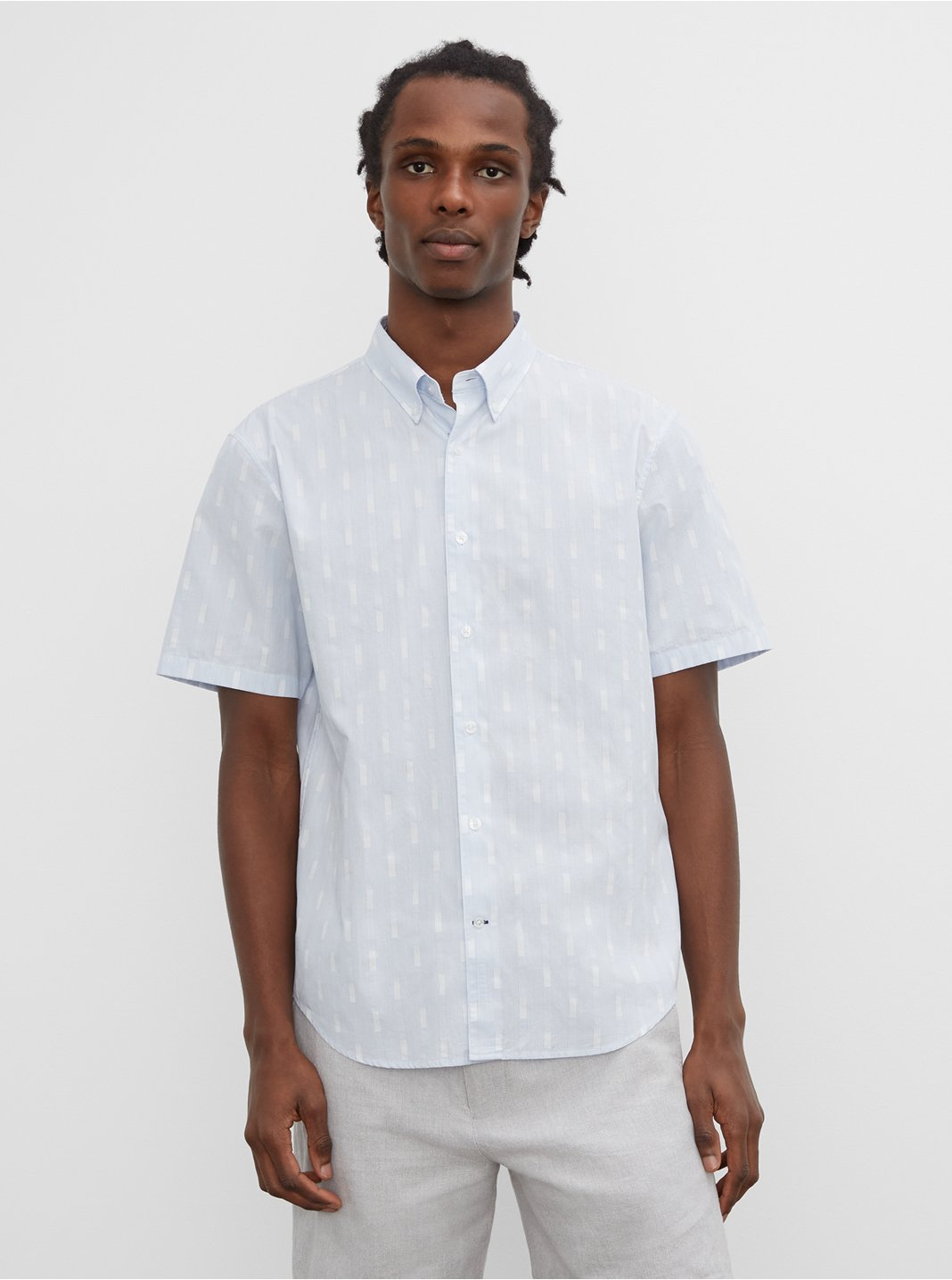 Short Sleeve Jacquard Shirt