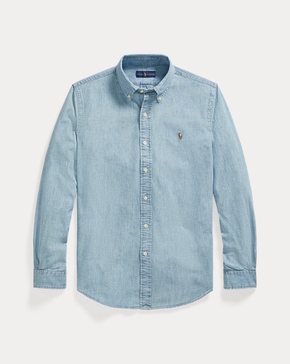 Camicia in chambray Custom-Fit