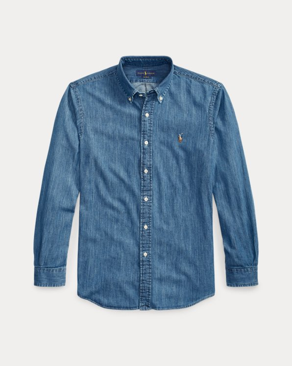 Camicia in denim Custom-Fit