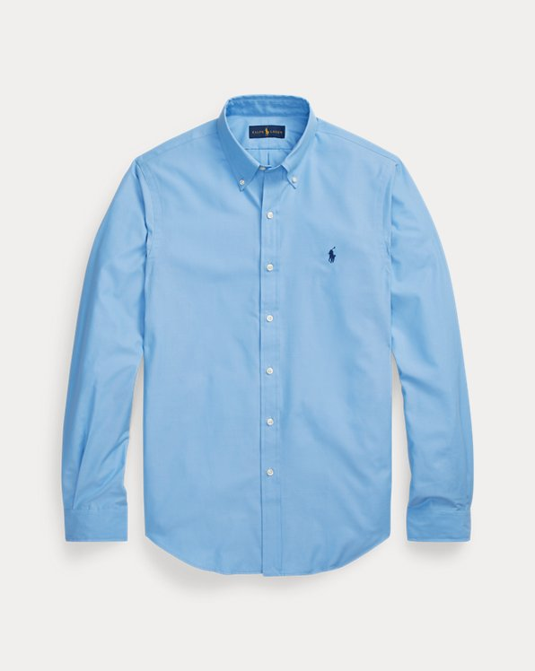 Slim Fit Peached Poplin Shirt