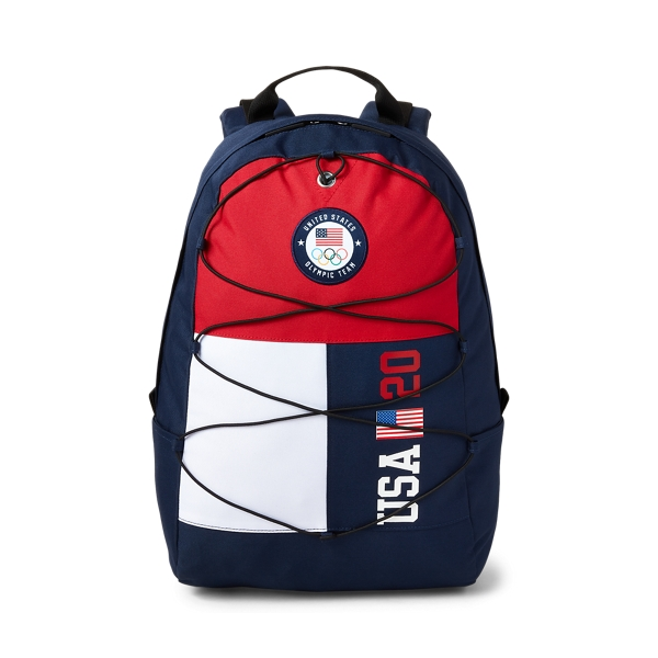 Ralph Lauren Team Usa Color-blocked Backpack In Navy/red/white