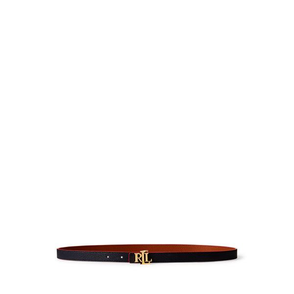 폴로 랄프로렌 Polo Ralph Lauren Reversible Leather Belt,Lauren Navy/ Tan