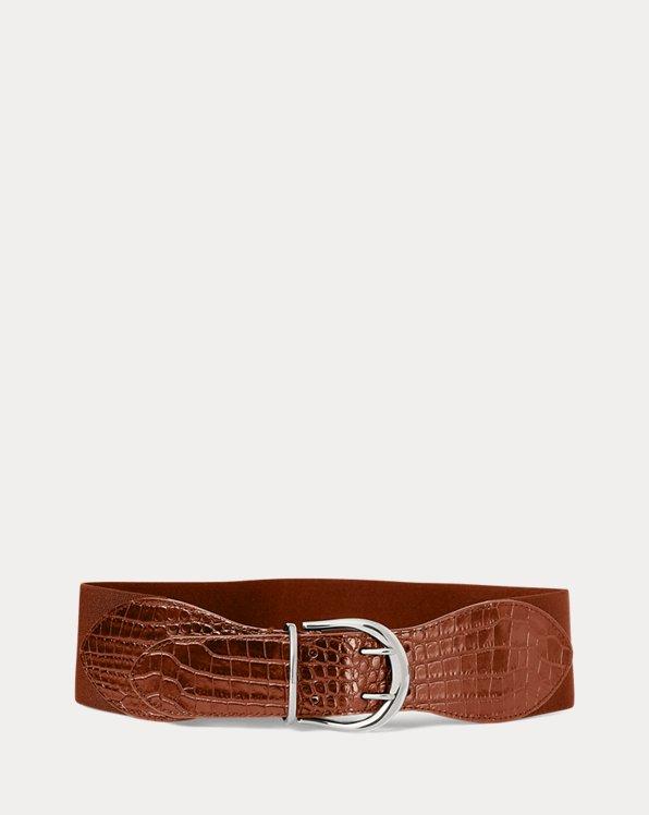 Cinturón de piel con elástico