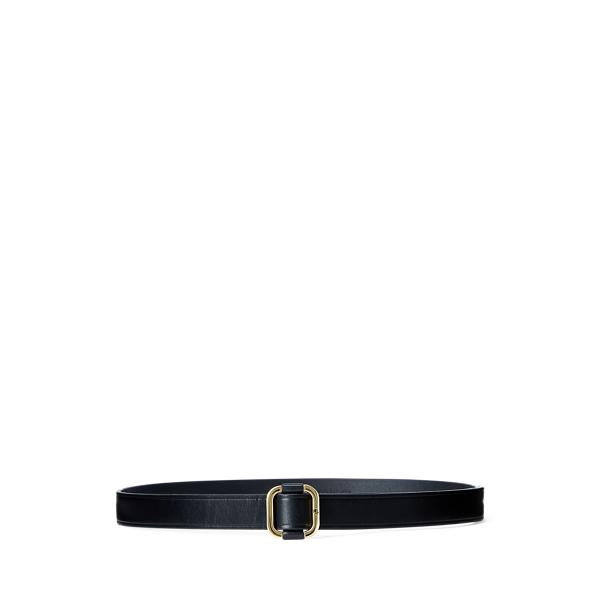 폴로 랄프로렌 Polo Ralph Lauren Leather Slide Buckle Belt,Black