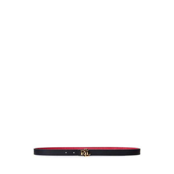 폴로 랄프로렌 Polo Ralph Lauren Reversible Leather Belt,Ruby/Lauren Navy