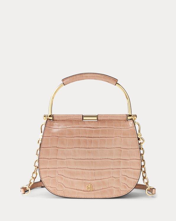Bolso satchel mini de piel